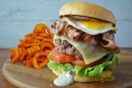 Bacon & Egg Wagyu Burger