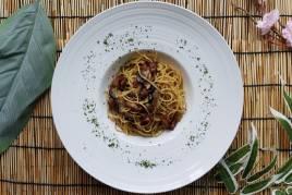 Pancetta Fungi Pasta