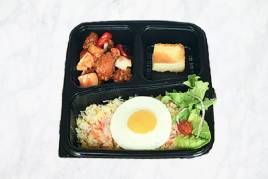Fried Rice with Sweet & Sour Chicken Bento
